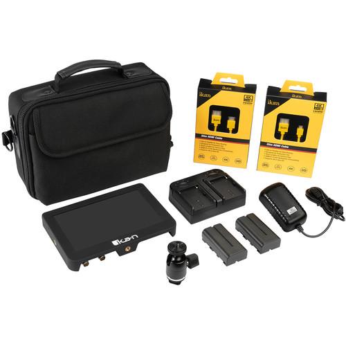 "ikan Saga 7"" 4K HDMI/3G-SDI On-Camera Monitor Deluxe Kit"