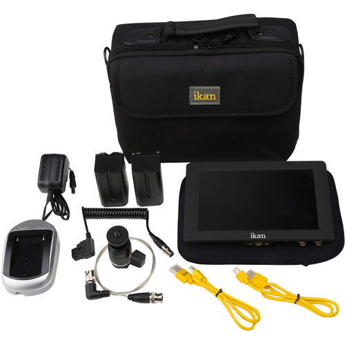 "ikan S7H-DK Saga 7"" High-Brightness On-Camera Monitor Deluxe Kit (Canon 900-Series Type)"