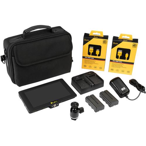 "ikan Saga 7"" High-Bright 4K IPS On-Camera Monitor V2 Deluxe Kit"