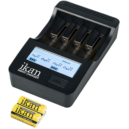 ikan ICH-SC4 Battery Charger with Two 18350 800mAh Batteries