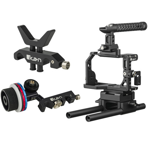 ikan STRATUS Cage Kit for Sony a6500/a6400 with Follow Focus & Lens Support