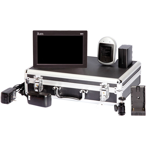 "ikan VH7i-E6 7"" HDMI LCD Field Monitor Deluxe Kit with Canon LP-E6 Type Battery Plate"