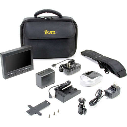 ikan VK5 Field Monitor Deluxe Kit with Canon 900 Series Battery Plate