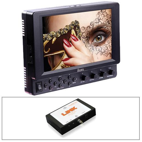 "ikan VK7I 7"" HDMI Monitor/Canon LP-E6 Type Battery Plate/Converter Kit"