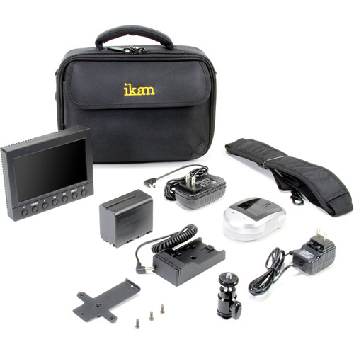 "ikan 5"" HDMI Field Monitor Deluxe Kit (Canon LP-E6)"