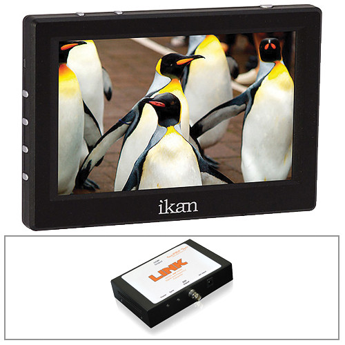 ikan VL5 HDMI Monitor/Canon LP-E6 Type Battery Plate/Converter Kit