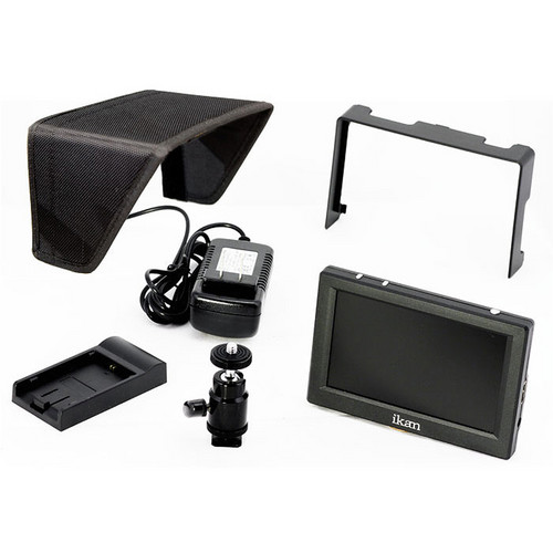 "ikan VL5 5"" HDMI Field Monitor Kit with Nikon EN-EL 15 Type Battery Plate"