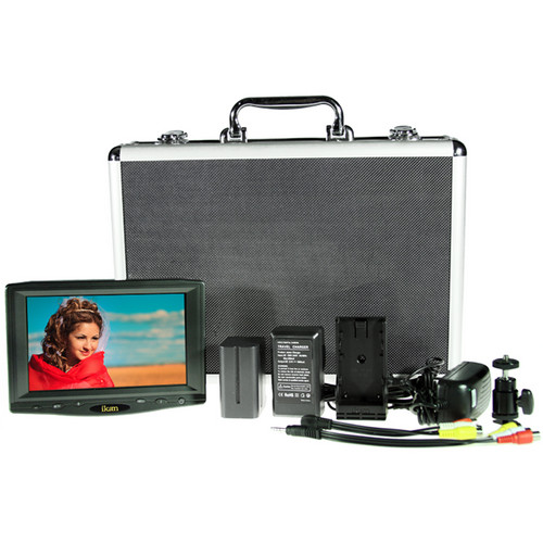 "ikan VL7-DK-C 7"" HDMI Field Monitor Deluxe Kit with Canon LP-E6 Type Battery and Plate"