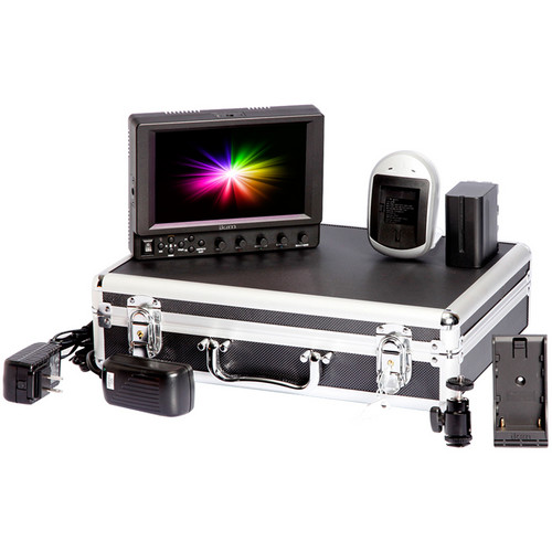 ikan VX7i Field Monitor Deluxe Kit with Canon LP-E6 Battery Plate