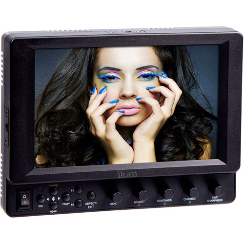 "ikan VX7i 7"" 3G-SDI Camera Monitor with IPS Panel and Nikon EN-EL 15 DV Battery Plate"