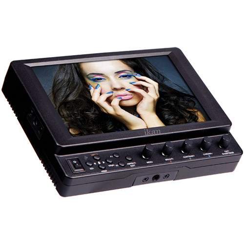 "ikan VX7i 7"" 3G-SDI Camera Monitor with IPS Panel and Panasonic G6 Battery Plate"