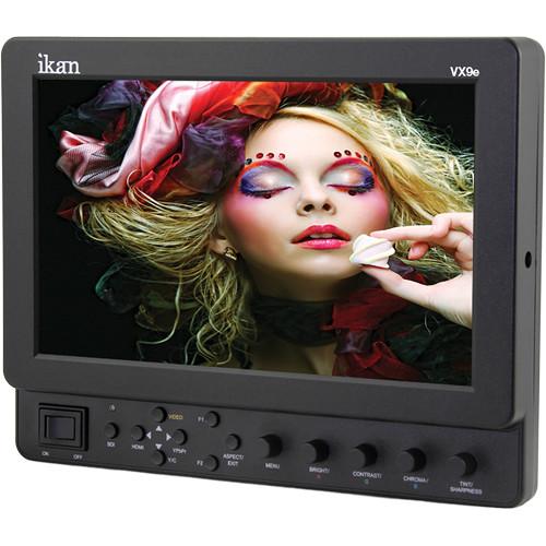 "ikan VX9e-1 9"" HD-SDI LCD Monitor with Canon 900, Sony L, Panasonic D54 Type Battery Plates"