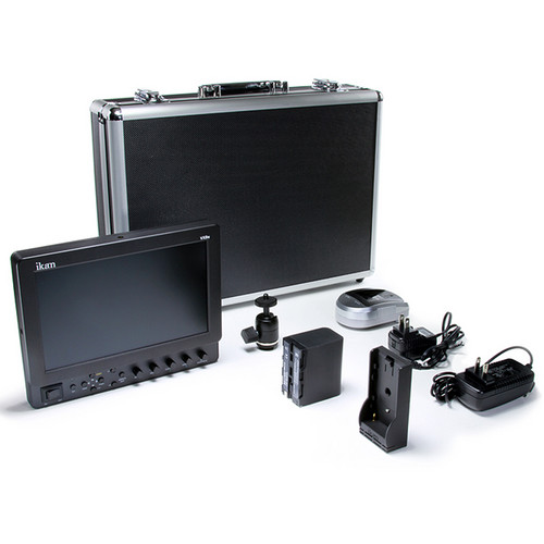 "ikan VX9e 8.9"" HD-SDI LCD Monitor Deluxe Kit with Canon LP-E6 Battery, Plate, Charger & Case"