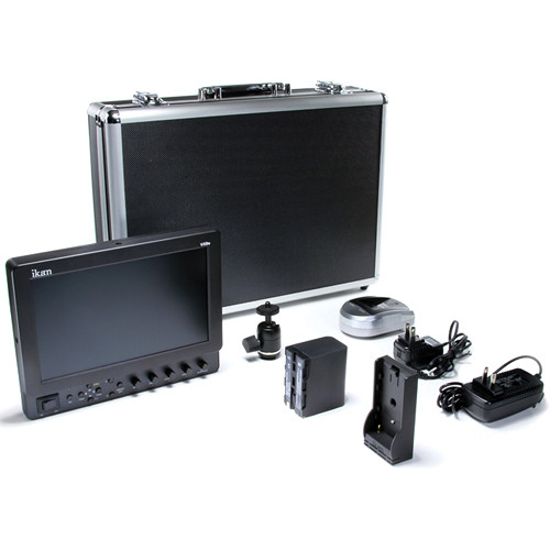 "ikan VX9e 8.9"" HD-SDI LCD Monitor Deluxe Kit with Nikon EN-EL15 Battery, Plate, Charger & Case"