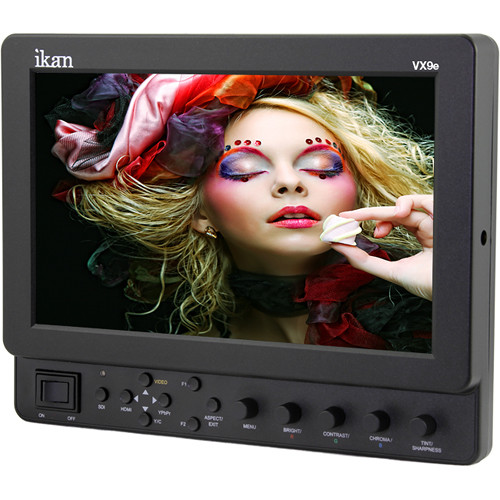 "ikan VX9e-N 9"" HD-SDI Field Monitor with Nikon EN-EL15 Battery Plate"