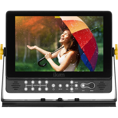 """ikan VX9i-1 9"""" Full HD Plus 3G-SDI/HDMI Monitor with Canon 900, Sony L, and Panasonic D54-Type Battery Plates"""