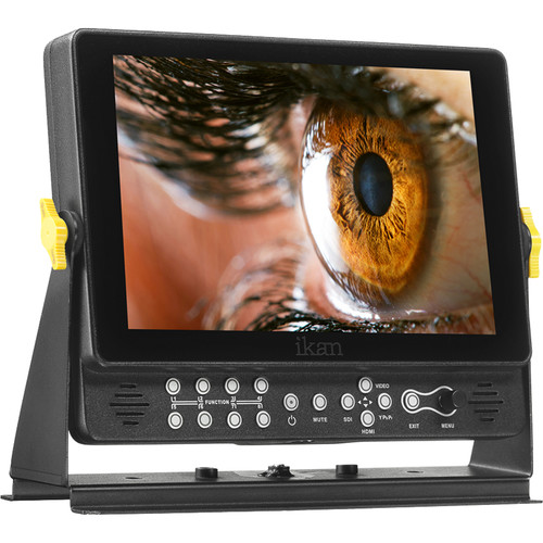 "ikan VX9w-1 9"" Full HD Plus 3G-SDI/HDMI Monitor with Waveform, Scopes, and Cannon 900, Sony L, and Panasonic D54-Type Battery Plates"