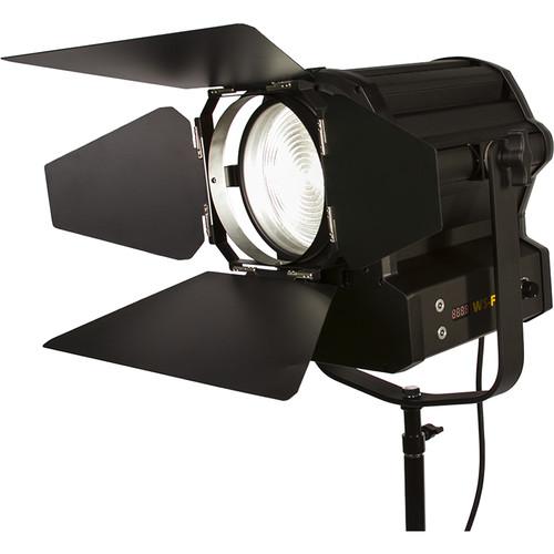 """ikan White Star WS-F200 6"""" Fresnel 200W LED Light (Black)"""