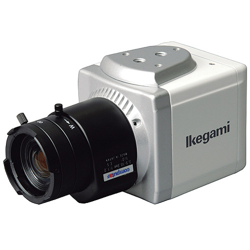 Ikegami KIT-BX11-OD IP Network Camera with CS-Mount Lens and Outdoor Aluminum Camera Housing with Wall Bracket Kit