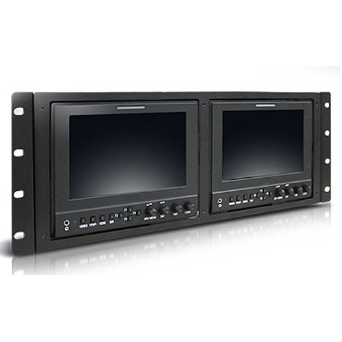 Ikegami 7-Inch Lcd Monitor Dual Rackmount Kit, Ips 1280 X 800 Wide Viewing Angles And High Resolution, 3Gsdi