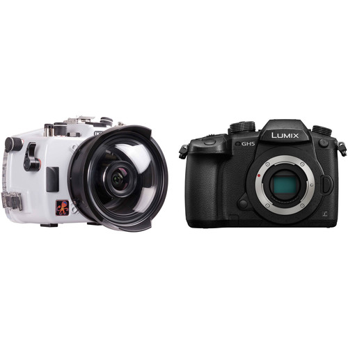 Ikelite 200DL Underwater Housing and Panasonic Lumix GH5 Micro Four Thirds Camera Body Kit