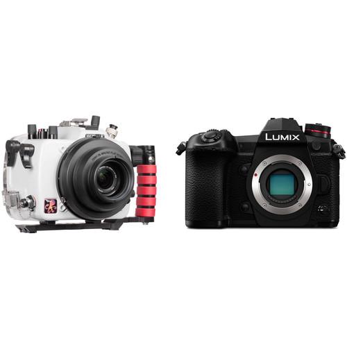 Ikelite 200DL Underwater Housing and Panasonic Lumix DC-G9 Mirrorless Micro Four Thirds Digital Camera (Body Only)