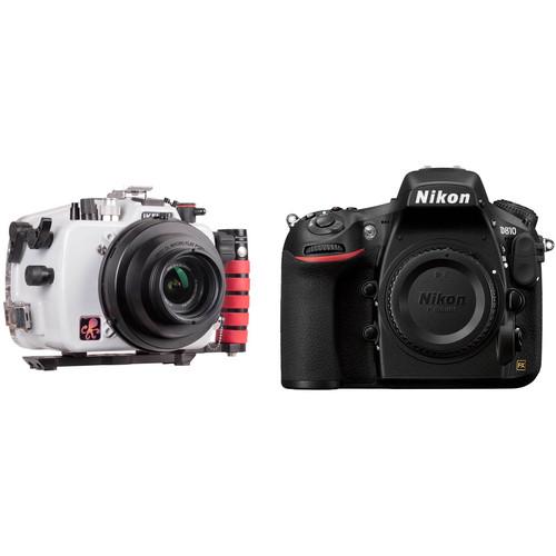 Ikelite 200DL Underwater Housing and Nikon D810 DSLR Camera Body Kit