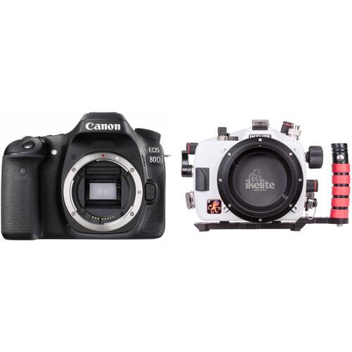 Ikelite 200DL Underwater Housing and Canon EOS 80D DSLR Camera Body Kit