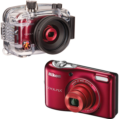 Ikelite Underwater Housing with Nikon COOLPIX L30 Digital Camera Kit (Red)
