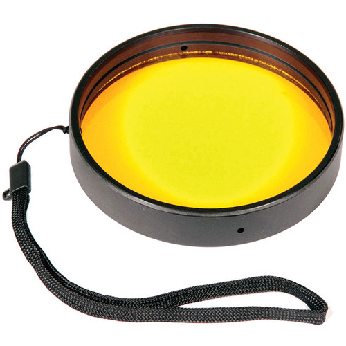 "Ikelite 3.9"" Yellow Barrier Filter for Underwater Lens Ports"