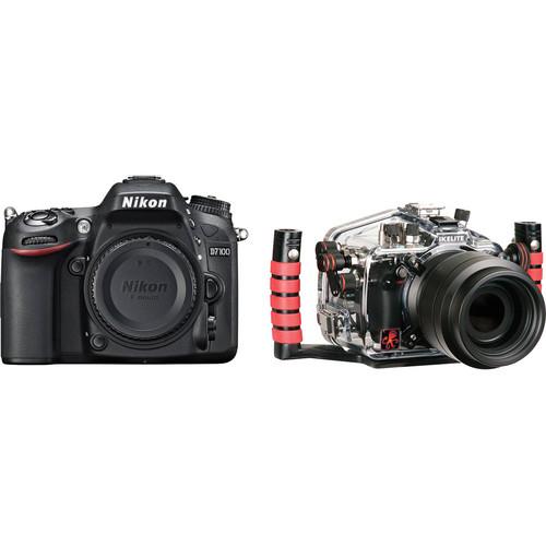 Ikelite Underwater Housing with Nikon D7100 DSLR Camera Body Kit