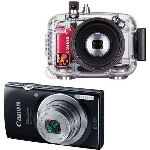 Ikelite Underwater Housing with Canon PowerShot ELPH 135 Digital Camera Kit (Black)