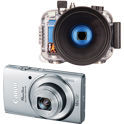 Ikelite Underwater Housing with Canon PowerShot ELPH 150 IS Digital Camera Kit (Silver)