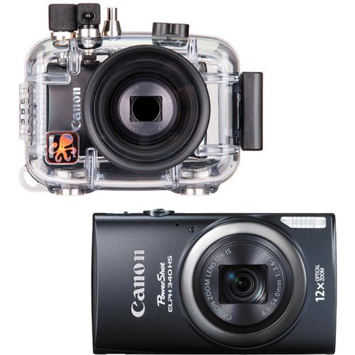 Ikelite Underwater Housing with Canon PowerShot ELPH 340 HS Digital Camera Kit (Black)