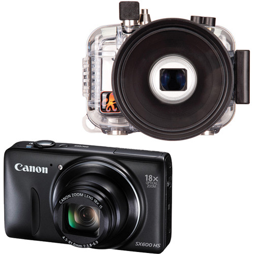 Ikelite Underwater Housing with Canon PowerShot SX600 HS Digital Camera Kit (Black)
