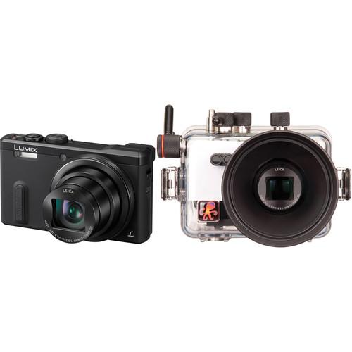 Ikelite Underwater Housing with Panasonic LUMIX DMC-ZS40 Digital Camera Kit (Black)