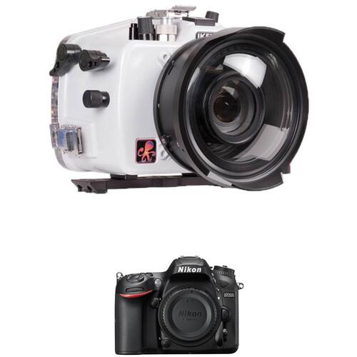 Ikelite 200DL Underwater Housing and Nikon D7200 DSLR Camera Body Kit