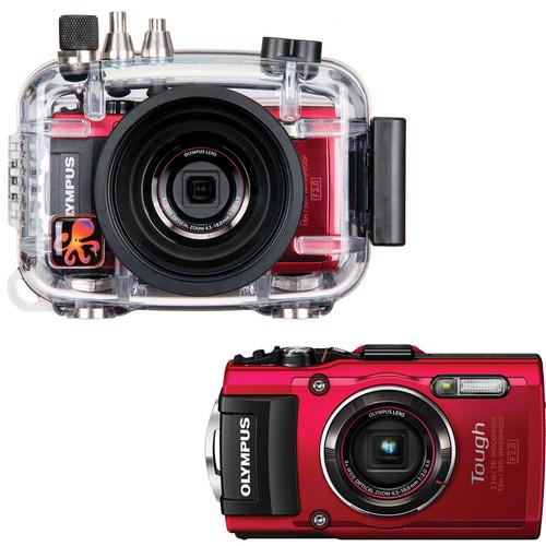 Ikelite Ikelite Underwater Housing Kit with Olympus Stylus TOUGH TG-4 Digital Camera (Red)