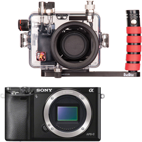 Ikelite Underwater Housing and Sony Alpha a6000 Mirrorless Digital Camera Body Kit