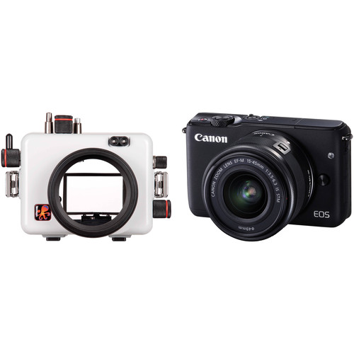 Ikelite Underwater Housing and Canon EOS M10 Digital Camera with 15-45mm Lens Kit