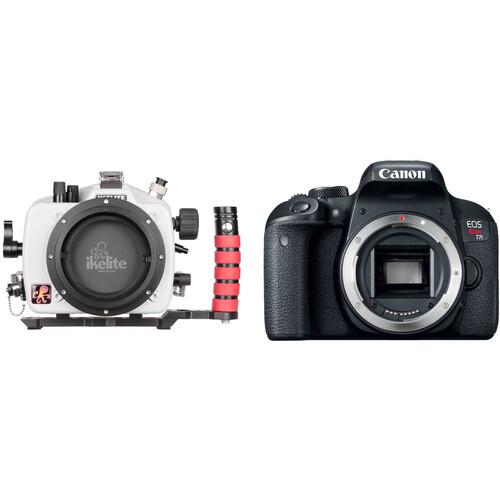Ikelite Underwater Housing and Canon EOS Rebel T7i DSLR Camera Body Kit