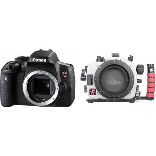 Ikelite Underwater Housing and Canon EOS Rebel T6i DSLR Camera Body Kit