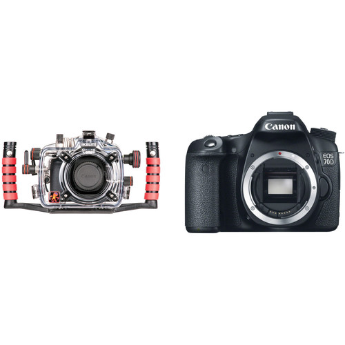 Ikelite Underwater Housing and Canon EOS 70D DSLR Camera Body Kit