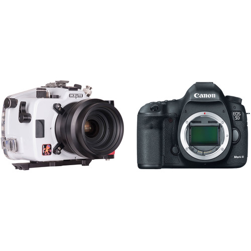 Ikelite Underwater Housing with FL Port Mount and Canon EOS 5D Mark III DSLR Camera Body Kit