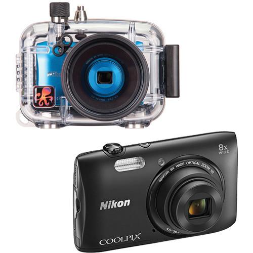 Ikelite Underwater Housing with Nikon COOLPIX S3600 Digital Camera Kit