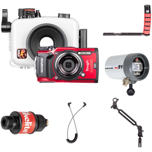 Ikelite Underwater Housing with Olympus Tough TG-5 Camera and Strobe Deluxe Kit