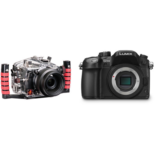 Ikelite Underwater Housing and Panasonic Lumix DMC-GH4 Micro Four Thirds Camera Body Kit