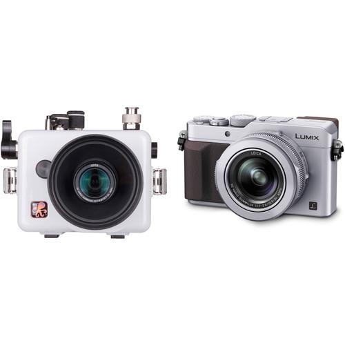 Ikelite Underwater Housing with TTL Circuitry and Panasonic Lumix DMC-LX100 Camera Kit