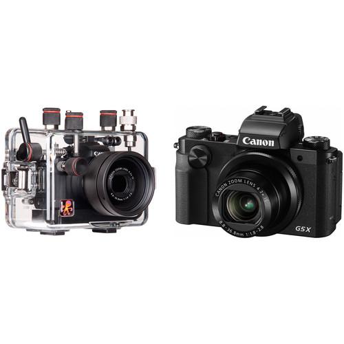 Ikelite Underwater Housing with TTL Circuitry and Canon PowerShot G5 X Camera Kit