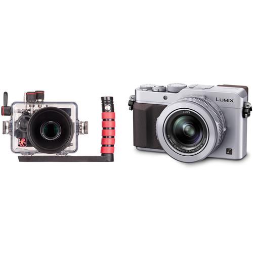 Ikelite Underwater TTL Housing and Panasonic Lumix DMC-LX100 Digital Camera Kit